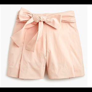 NWOT J.Crew tie waist short in cotton